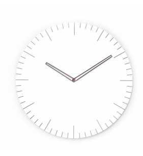 Nowoczesny zegar ścienny z akcentem drewna płynący mechanizm