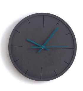 Nowoczesny zegar ścienny ECOBOARD czarno-tukusowy