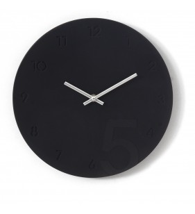 Nowoczesny zegar ścienny minimalistyczny czarno-srebrny