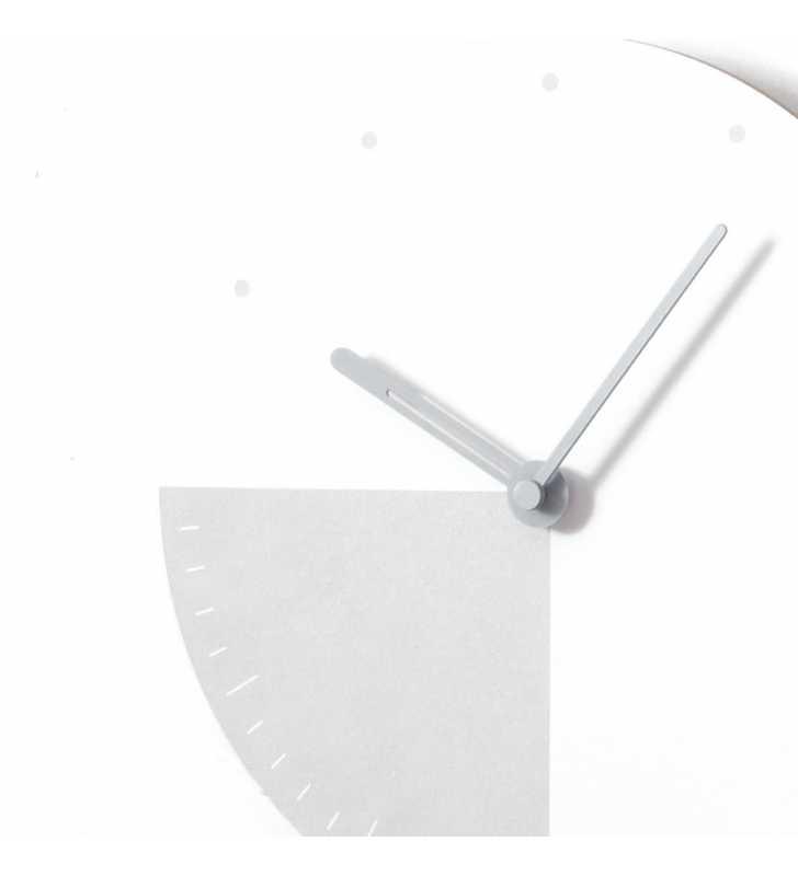 Nowoczesny designerski zegar ścienny CICHY
