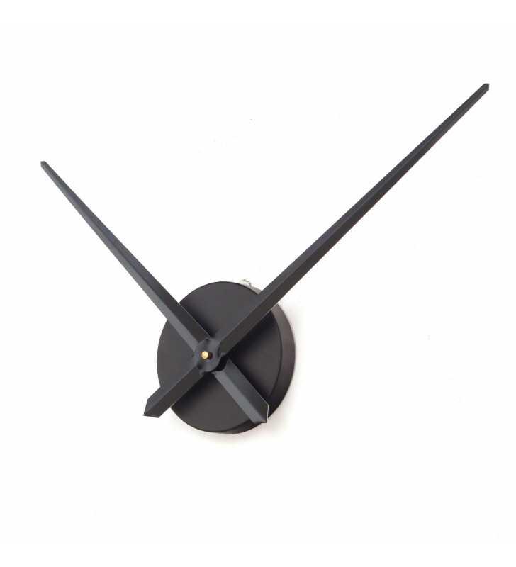 Duży zegar ścienny 3D DIY lustro 70cm-130cm 12S002 czarny