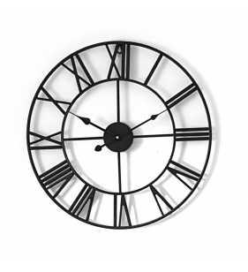Zegar ścienny metalowy VINTAGE Shabby LOFT czarny 50 cm