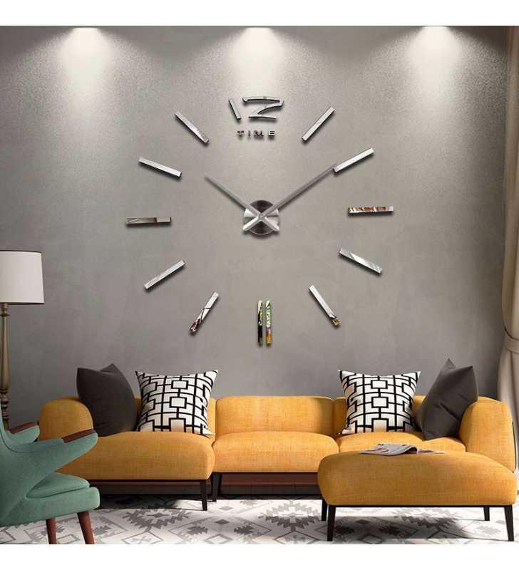 Duży zegar ścienny naklejany