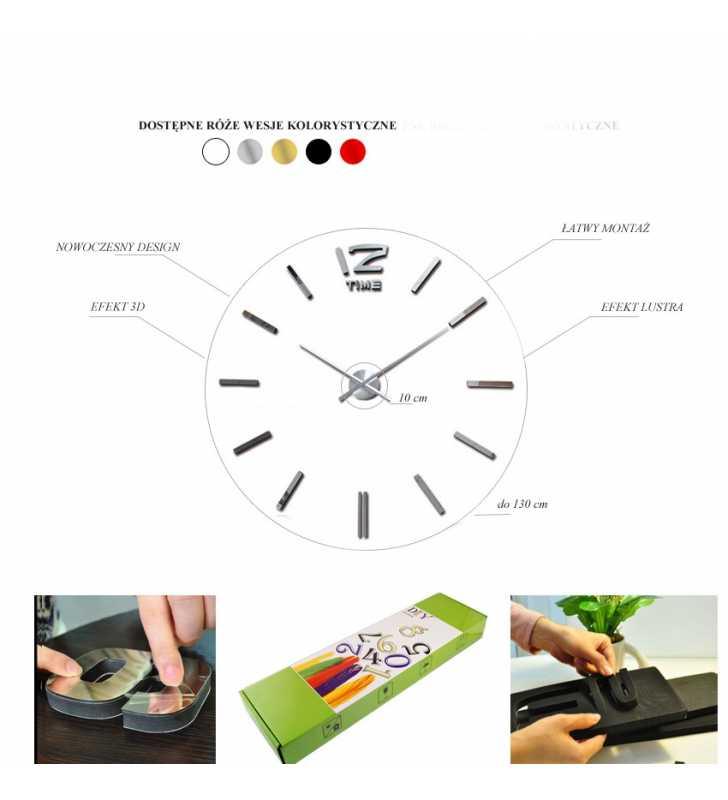 Zegar ścienny DIY montaż
