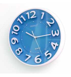 Klasyczny zegar ścienny 5840 niebieski