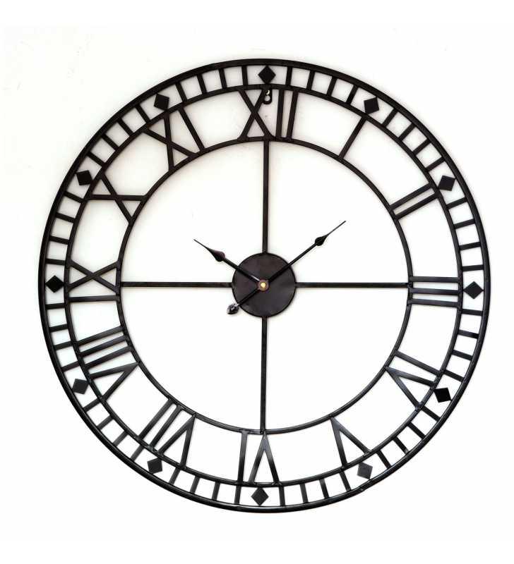 047f1b5f4b63 Metalowy zegar ścienny VINTAGE Shabby LOFT 70 cm czarny