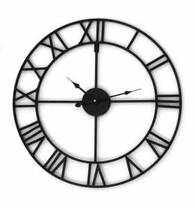 Zegar ścienny LOFT 80 CM metalowy kuty