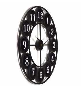 Zegar metalowy kuty