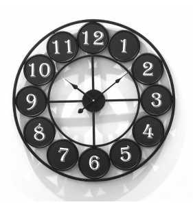 Zegar ścienny loft czytelny