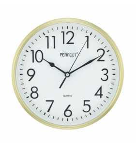 Klasyczny zegar ścienny 5742 złoty