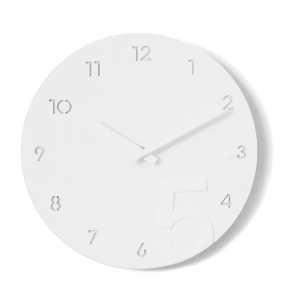 Nowoczesny zegar ścienny minimalistyczny biały