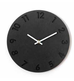 Nowoczesny zegar ścienny ECOBOARD czarny arabski