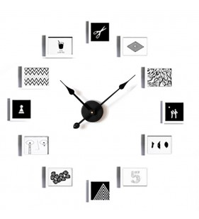 Nowoczesny zegar ścienny ramki ramka na zdjęcia XXL