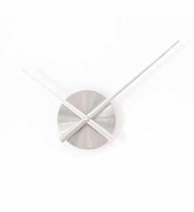 Duży zegar ścienny 3D DIY-L 12S srebrny WSKAZÓWKI