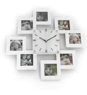 Zegar ścienny ramki na zdjęcia