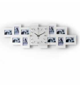 Biały zegar ścienny