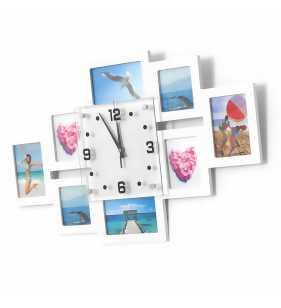 Biały zegar na ścianę