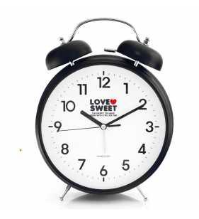 Budzik retro BIG 33 CM  czarny Dream Love