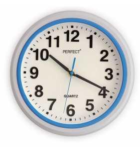 Nowoczesny zegar ścienny 5841 niebieski