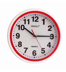 Nowoczesny zegar ścienny 5841 czerwony