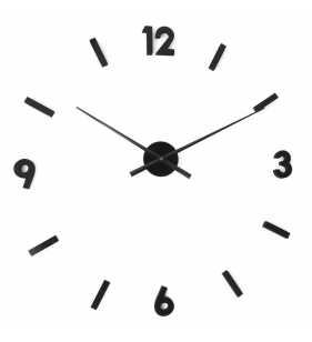czarny nowoczesny zegar ścienny