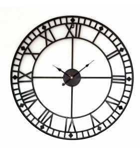 Metalowy zegar ścienny VINTAGE Shabby LOFT 70 cm czarny