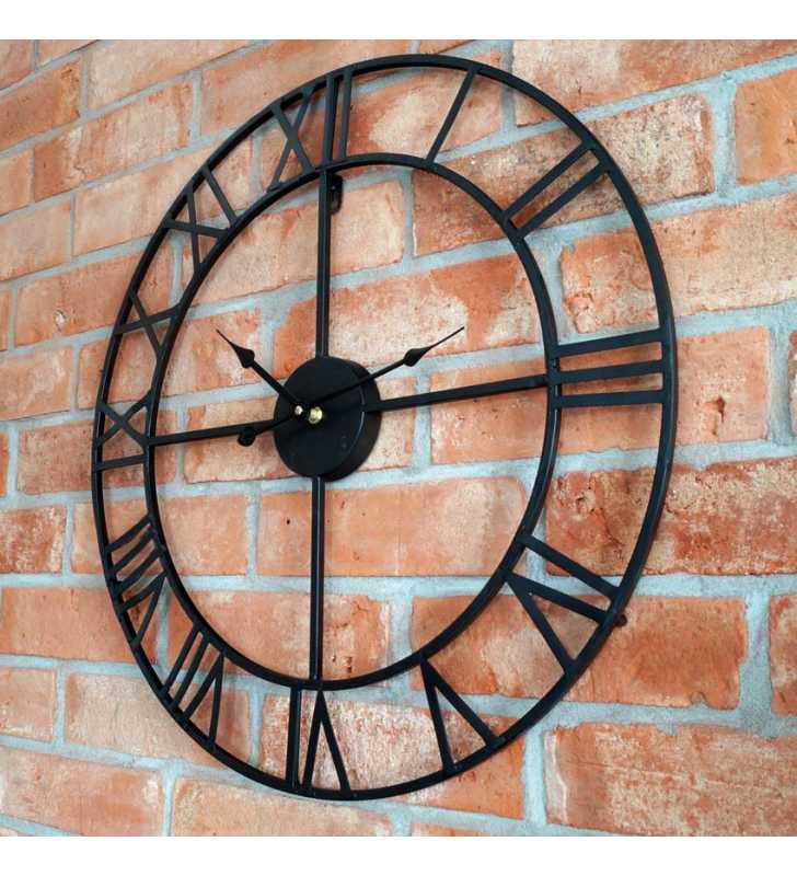 Zegar ścienny industrialny duży